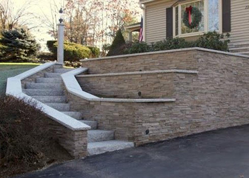Unique Stone Retaining Walls