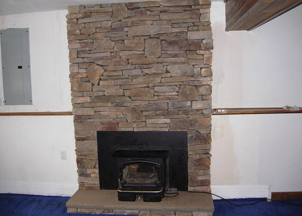 distinctive stoneworks - indoor fireplace