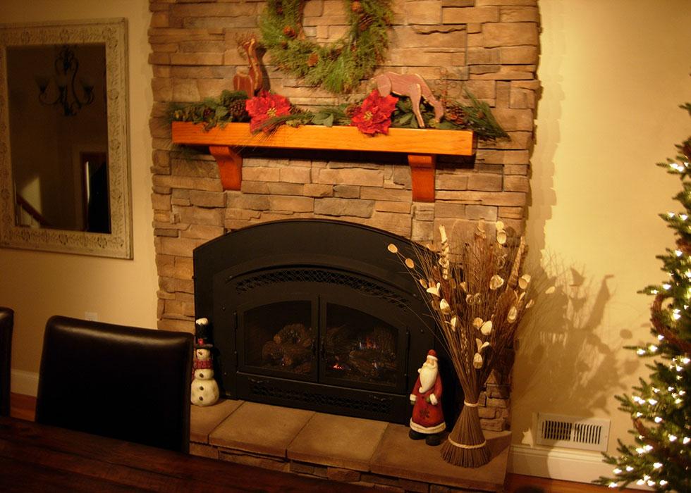 distinctive stoneworks - indoor fireplace